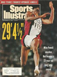 TRACK FIELD MIKE POWELL 1991 SPORTS ILLUSTRATED BOB BEAMON LONG JUMP RECORD