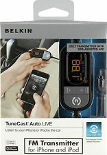 Belkin TuneCast Auto Live FM Transmitter Wireless Hands-Free for iPhone 3G 4 S