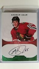 2011-12 Panini Dominion Andrew Shaw RC Auto Emerald (Green) 5/5
