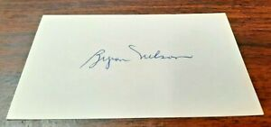Byron Nelson - Golf All Time Great - Autographed 3x5 Card