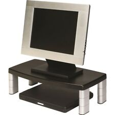 3M Ms90B Extra Wide Adjustable Monitor Printer Stand Black//Silver  RG-38//2