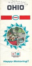 1968 HUMBLE OIL Road Map OHIO Cleveland Cincinnati Columbus Dayton Mount Gilead