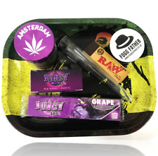 Purple Gift Smoking Set Amsterdam Grinder JuicyJay Grape Rolling Bob Marley UK