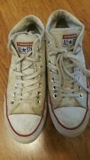 vintage Converse Chuck Taylor All Star High top Womens 6.5 White red line grunge