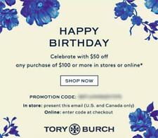 $50 off TORY BURCH Purchase Online/In Store Promo Coupon Code Expires 4/30/20