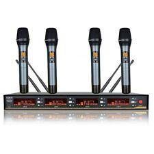 UHF wireless microphone karaoke 4 Channels cordless microphone Diversity