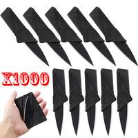 3-1000 Pcs Credit Card Thin Knives Cardsharp Wallet Folding Pocket Micro Knife