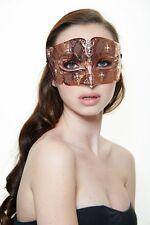 Elegant Venetian Laser Cut Masquerade Mask BD008RG Prom Rose Gold w/ Rhinestones