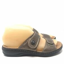 Clarks Collection Soft Cushion Women's Sandals Size 6 Open Toe Bronze Leather