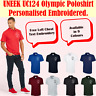Personalised Embroidered Olympic Polo Shirt Unisex Your Any Text UC124 (XS-4XL)