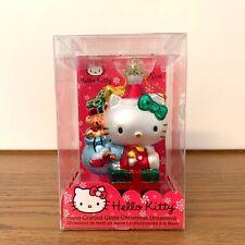HELLO KITTY Sanrio 2008 KURT ADLER Christmas Ornament Glass Hand Crafted Holiday