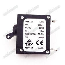 230V 15A Generator Circuit Breaker 18.8A Trip Amps BSB1-30 Icn 2000A HERTZ 50/60