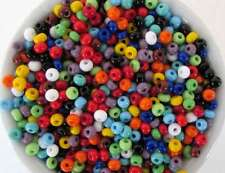 Czech Glass Seed Bead Multi Color Blue Green Red Orange Mixed Lot Size 6/0