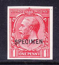 """GB 1912 1D Imperf OPT """"campione"""" tipo 26-U / M sgn16u. CAT £ 90 come montato MINT"""