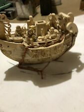 Vintage Ivory Tusk Boat Collectable
