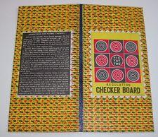 "Vintage 10-3/4"" Regulation Checkerboard Tic Tac Toe 1950's Made in Japan NOS"