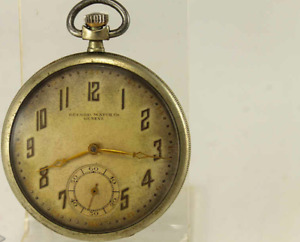 Record Co Geneve 1900's Old Vintage Pocket Watch Swiss