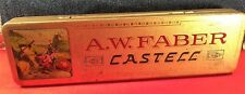 """Faber-Castell""   Old  German Empty Metal  Box  for  Pencils c.1950's"