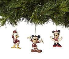 Disney Traditions Jim Shore Santa Mickey Minnie Donald Hanging Ornaments 4039088