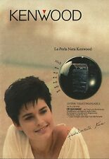 X7037 La perla nera Kenwood - Pubblicità 1990 - Advertising