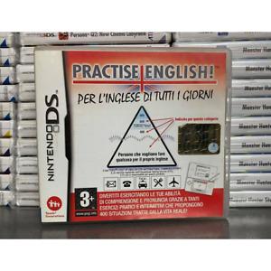 PRACTISE ENGLISH NINTENDO DS COMPATIBILE 3DS 2DS USATO PER IMPARARE L'INGLESE