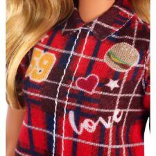 Barbie Fashionistas Red Plaid Love *Dress Only*