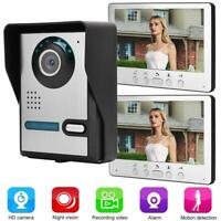 """7"""" LCD Door Video Phone Wired Intercom Doorbell Night Vision Home Entry System"""