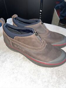Clarks Muckers Brown Leather 8 M New Waterproof Thinsulate booties shoes Zip