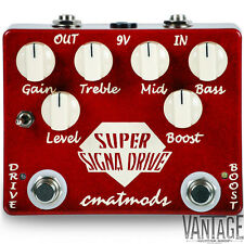 CMAT Mods Super Signa Drive Overdrive + Boost Guitar Effects Pedal
