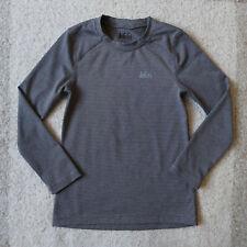 REI Base Layer Shirt Boys Size X-Small XS Gray Long Sleeve Tee Striped