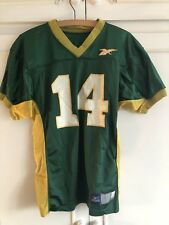 Vintage Reebok American Football Jersey One Size Green And Yellow