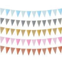 Baby Shower Wedding Supplies Paper Flag Bunting Garland Party Decor Wavy Banner