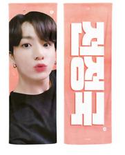 BTS Jungkook  2020 Reflective Slogan Official Banner +Photo card + Ziplock