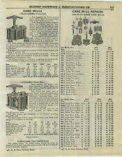 1932 PAPER AD Blue Grass Cane Mill Repair Parts Price List Cyclone Jumbo
