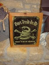 Custom Framed Proud To Be An American Man Cave Solid Cedar Metal Sign Weathered