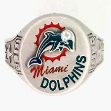 Miami Dolphins Pewter Ring Size 8, NEW