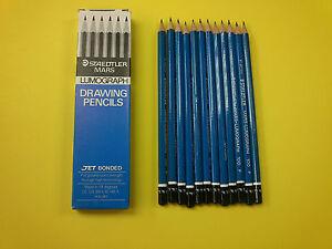 Staedtler Mars Lumograph Drawing Pencils Pack of 12 FREE POSTAGE 6H-6B