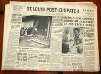 Rev. Dr. Martin Luther King Jr. Article St. Louis Post Distatch May 10th, 1963