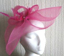 hot pink feather headband fascinator wedding hat ascot
