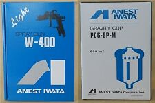 ANEST IWATA W-400 122G 1.2mm Gravity Spray Gun with 600ml Cup New from Japan