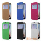 Window View Flip PC Case Cover For Samsung Galaxy S6 Edge