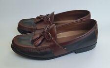 Johnston & Murphy Shoes Loafers Slip On Tassel Black Brown Mens Size 9 M