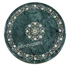 MOP Gemstones Art at Border Patio Dining Table Top Marble Coffee Table 30 Inches