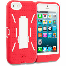 Rigid Plastic Mobile Phone & Pda Fitted Case/skins for Apple with Kickstand
