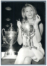 Evelyne Dandry et la Coupe de France de Football  Vintage silver print Tirage