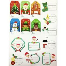 28PCS Gift Stickers Tag Gift B Message Christmas Self Sticker Adhesive Christmas