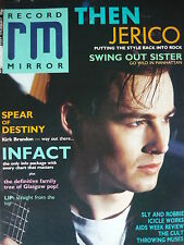 RECORD MIRROR 18/4/87 - THEN JERICHO - SWING OUT SISTER - THE CULT