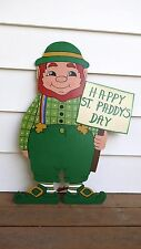 HAPPY LEPRECHAUN St. Patrick's Day Yard Art Decoration