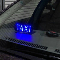 Auto Blue 45 LED Cab Taxi Roof Sign Light 12V Vehical Inside Windscreen Lamp HGU