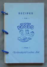 Tordenskjold Ladies Aid Otter Tail County MN Cookbook Vintage 1968 Recipes
